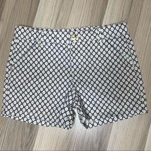Carters black white geometric print shorts